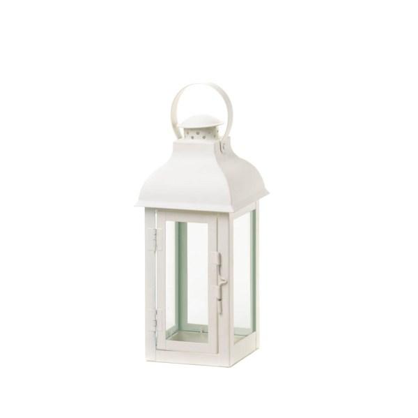 White Candle Lantern Wedding Centerpieces