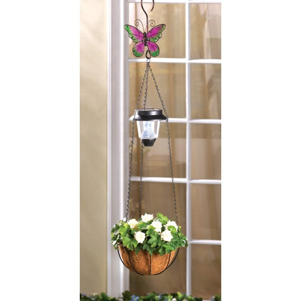 Solar Butterfly Hanging Basket