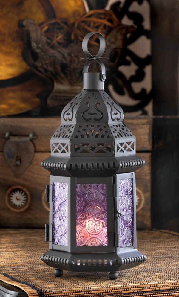 Purple Moroccan Style Lantern - Candle Lanterns