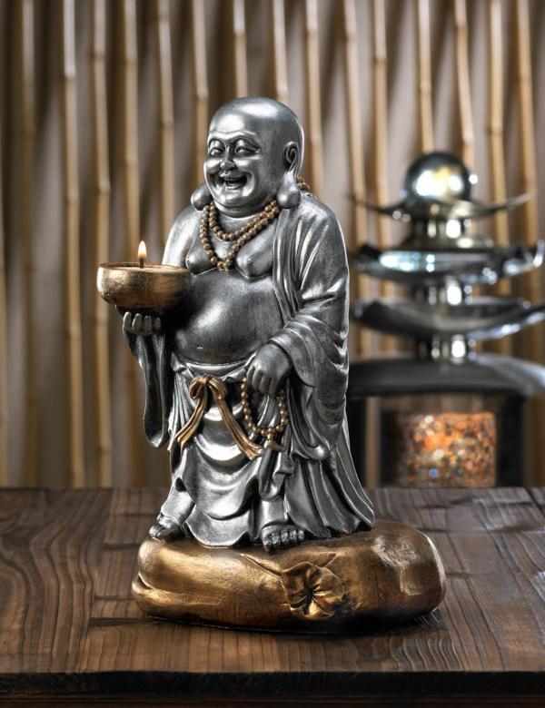 Standing Buddha Candleholder