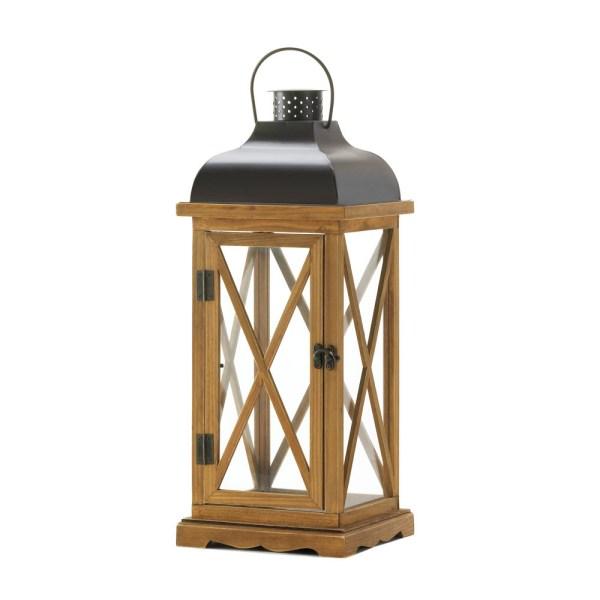Hayloft Wooden Candle Lantern Large
