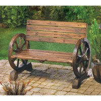 Wholesale Wagon Wheel Bench
