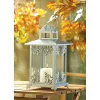 Wholesale Silver Scrollwork Candle Lantern