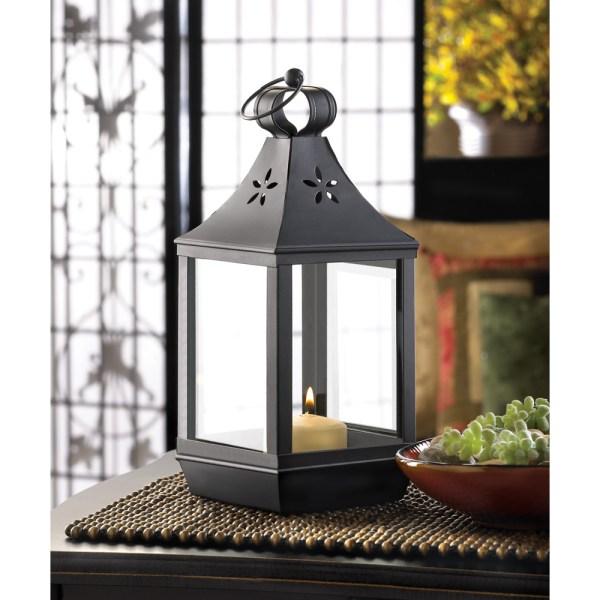 Black Lanterns Wedding Centerpieces