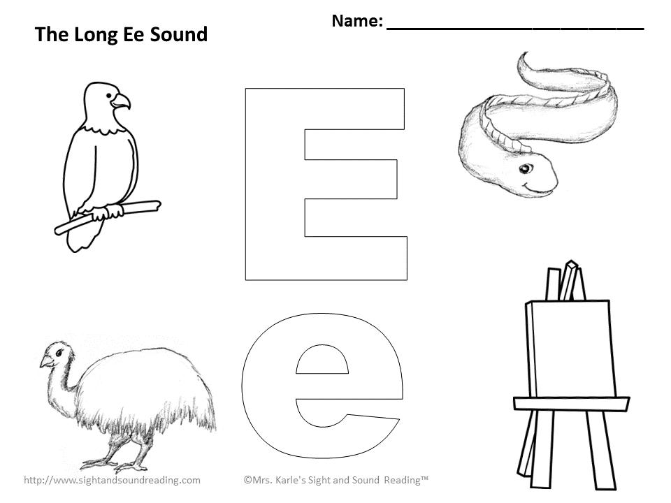 Letter E Coloring Pages