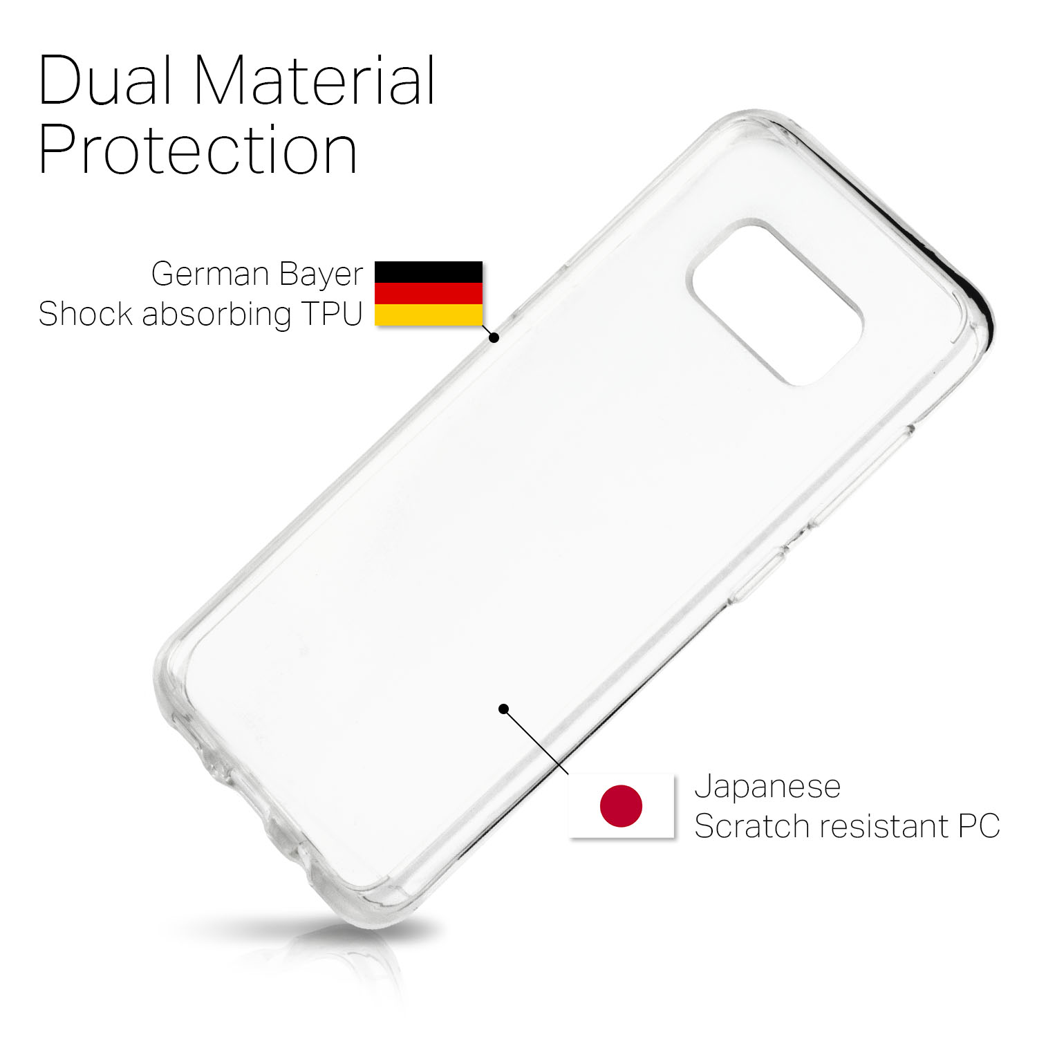Samsung Galaxy S8 Front Amp Back Protection Case Crystal