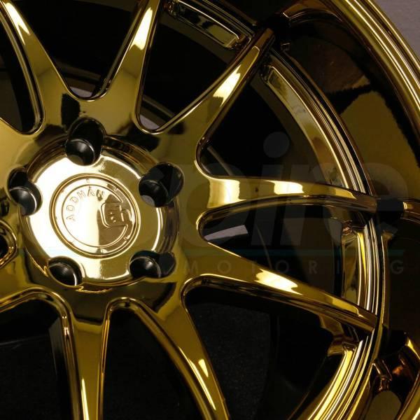 18x9.5 Aodhan Ds02 Ds2 5x114.3 15 Gold Vacuum Wheels Rims