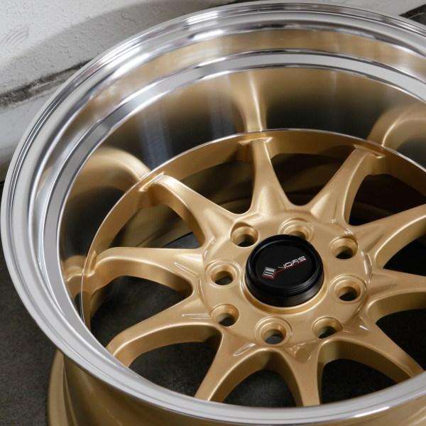 15x9 Vors Tr3 4x100 4x114.3 0 Gold Wheels Rims Set 4