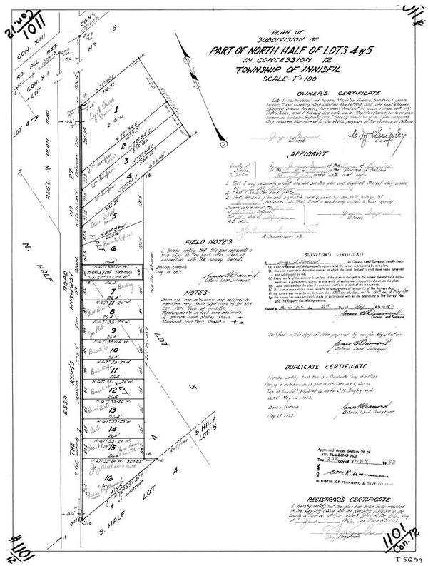 Mapleview Land Registry Map Showing King's Highway 27 or
