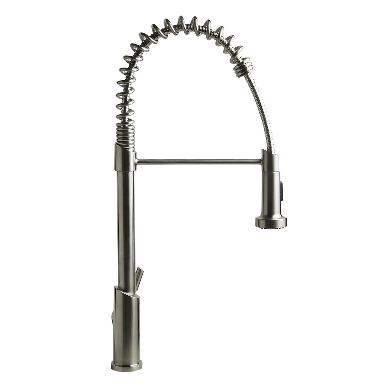 commercial pull down kitchen faucet slate bath4all alfi brand ab2013 solid stainless steel