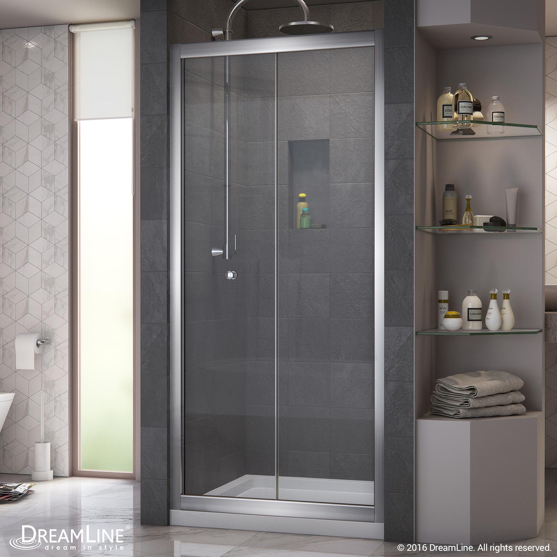 Details About Dreamline Dl 6213c 01cl Butterfly Bi Fold Shower Door Slimline 32x32 Base