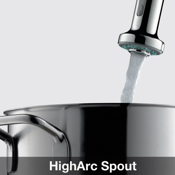 Hansgrohe Metro High Arc Kitchen Faucet With 2 Function Pull Handspray Dandk Organizer