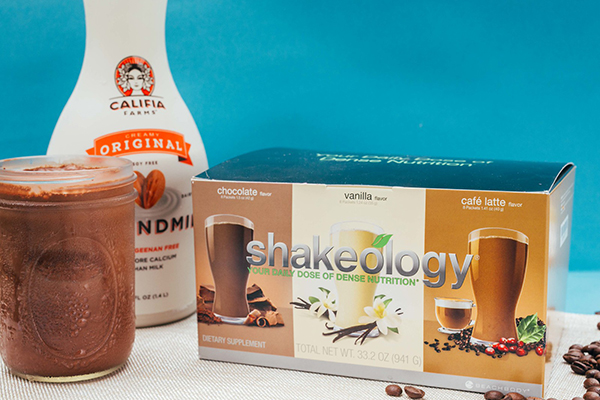 Shakeology sampler pack with chocolate, vanilla, cafe latte