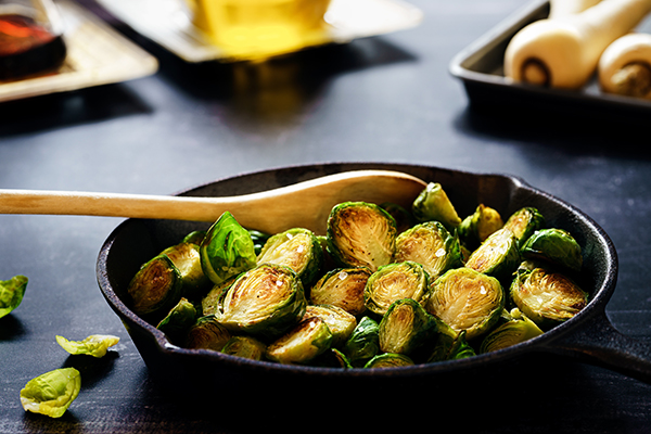 Pan-fried Brussels sprouts