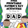 Free Printable Father S Day Worksheets For Beginning