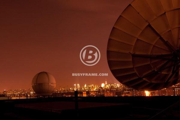 Satellite In Sky Night Busyframe