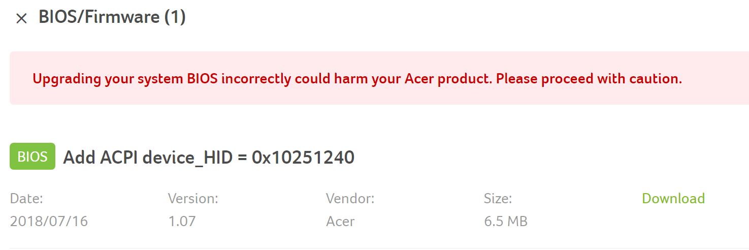 Thunderbolt™ 3 Firmware and Driver Updates for Acer Computers - Cable Matters Knowledge Base