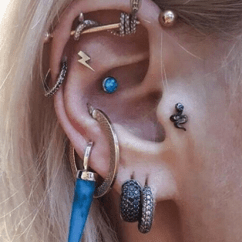 Different Ear Piercings Diagram Wiring For Single Phase Reversible Motor The Complete Guide To Types Of