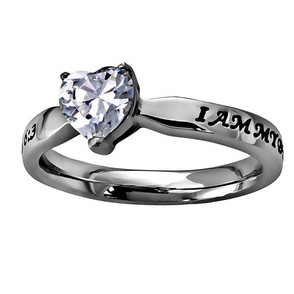 Beloved' Solitaire Heart Ring Women' Rings