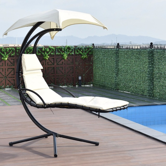 hanging hammock lounge chair j&f covers dublin facebook swing with canopy beige
