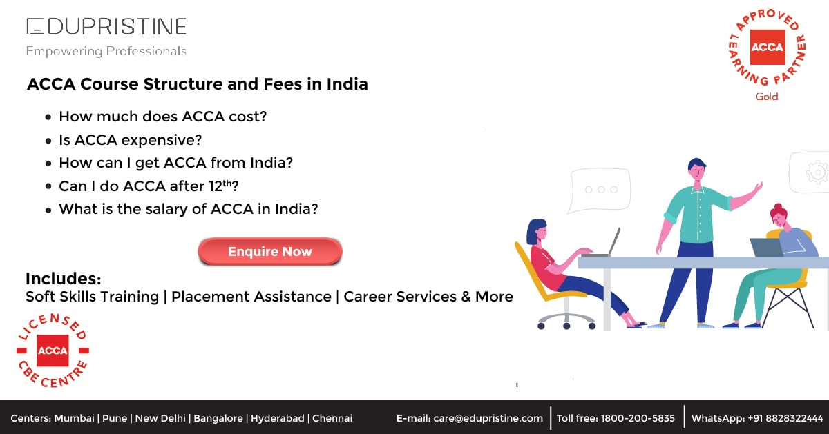 ACCA Course structure and fees in India