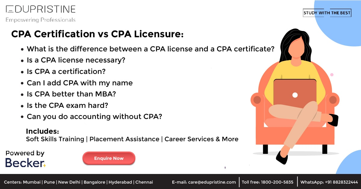 CPA Certification vs CPA Licensure: What's the difference?