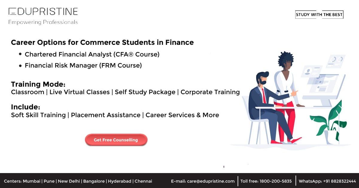 Career options for a commerce student
