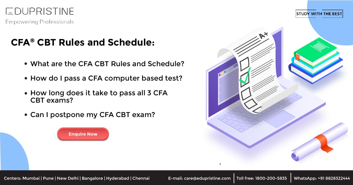 CFA CBT Rules and Schedule