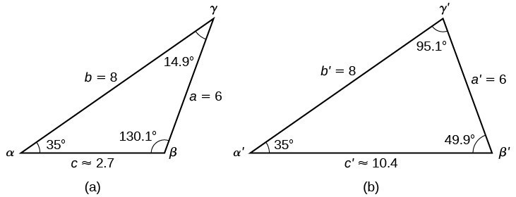 Using the Law of Sines to Solve Oblique Triangles
