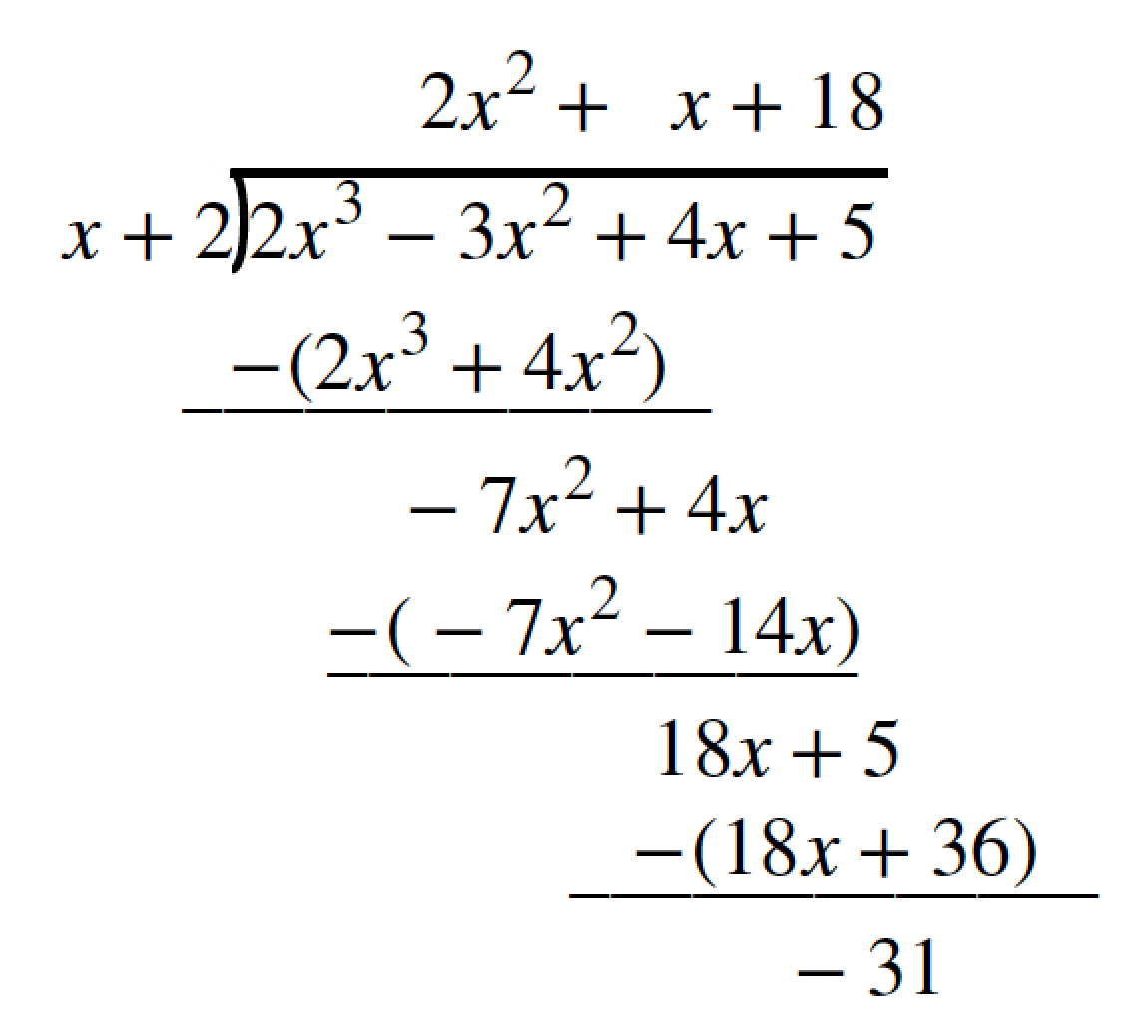 Use Synthetic Division To Divide Polynomials