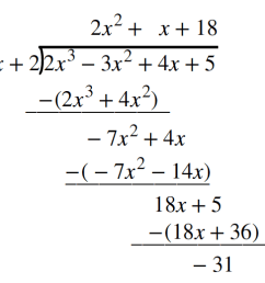 Use synthetic division to divide polynomials   College Algebra [ 1038 x 1150 Pixel ]