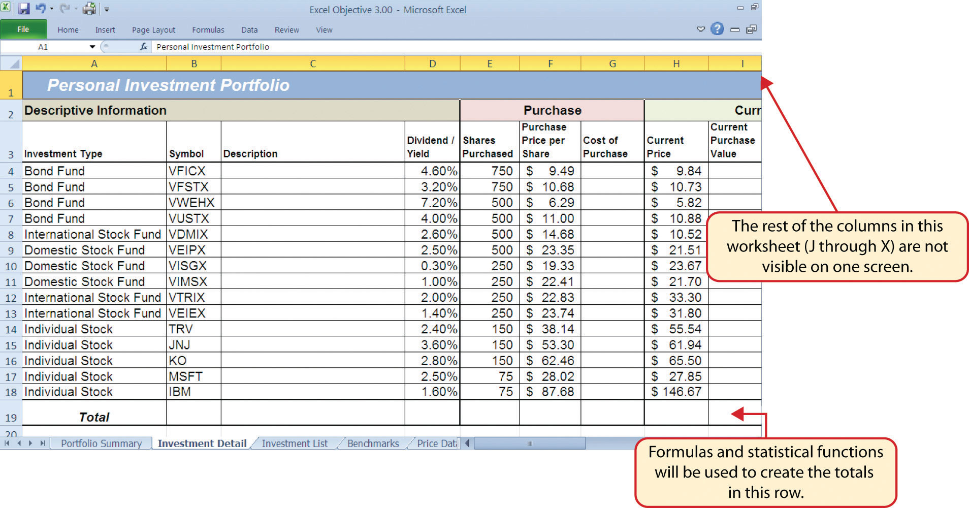 Ten Column Worksheet Accounting Example