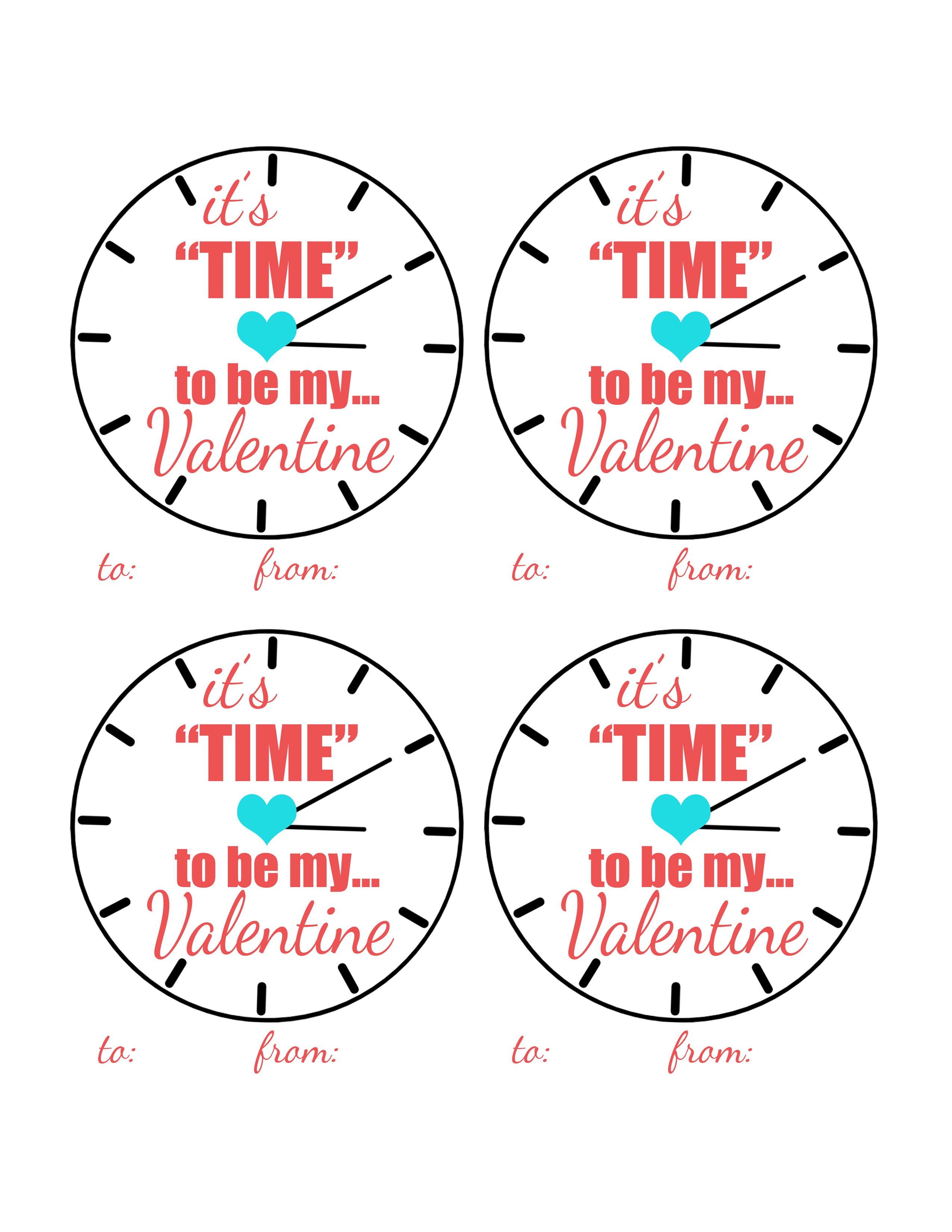 It S Time To Be My Valentine Free Printable Valentine