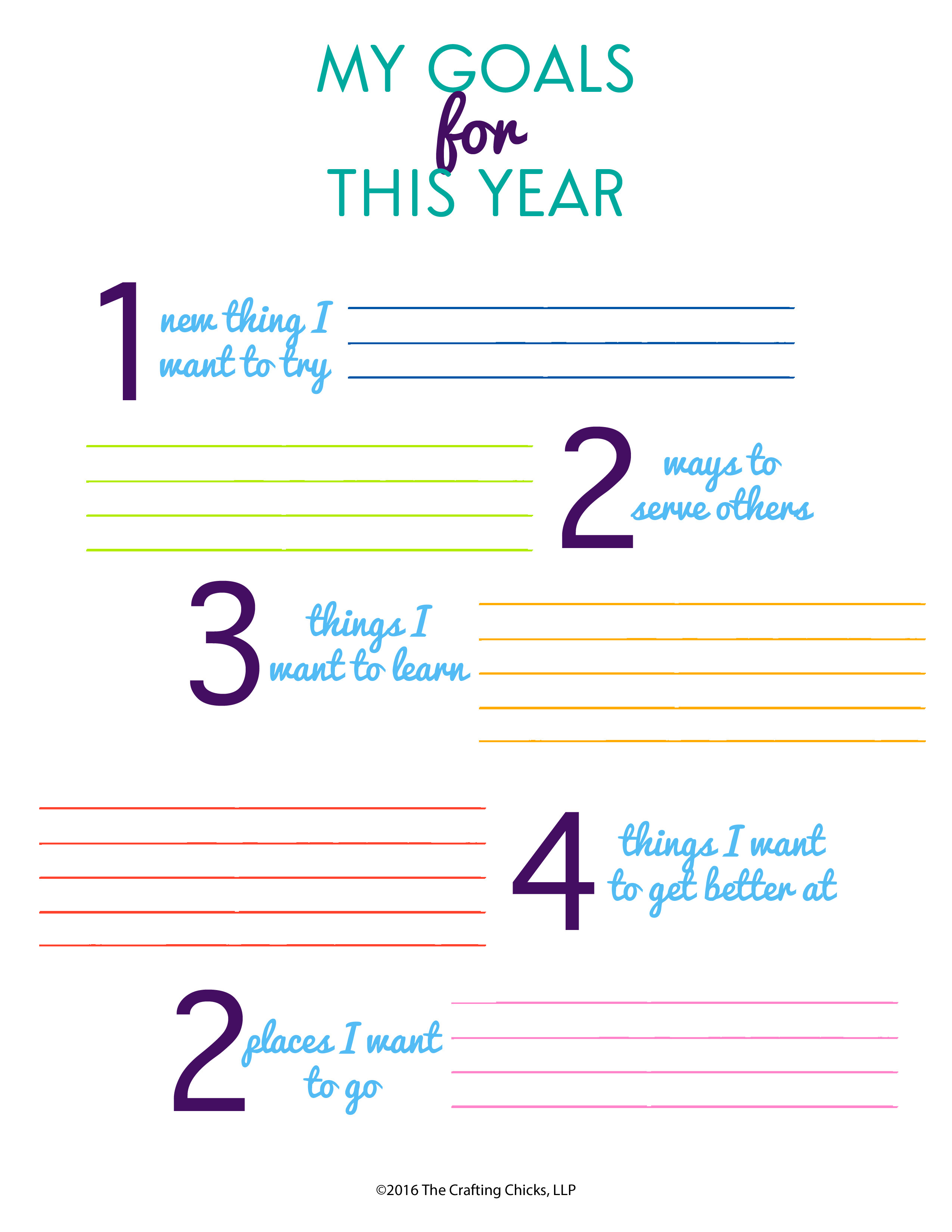 Helping Kids Set Goals Worksheet