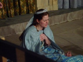 Caitlin (Cook) Bradley as Cleopatra, Hiram College Theater, 2003