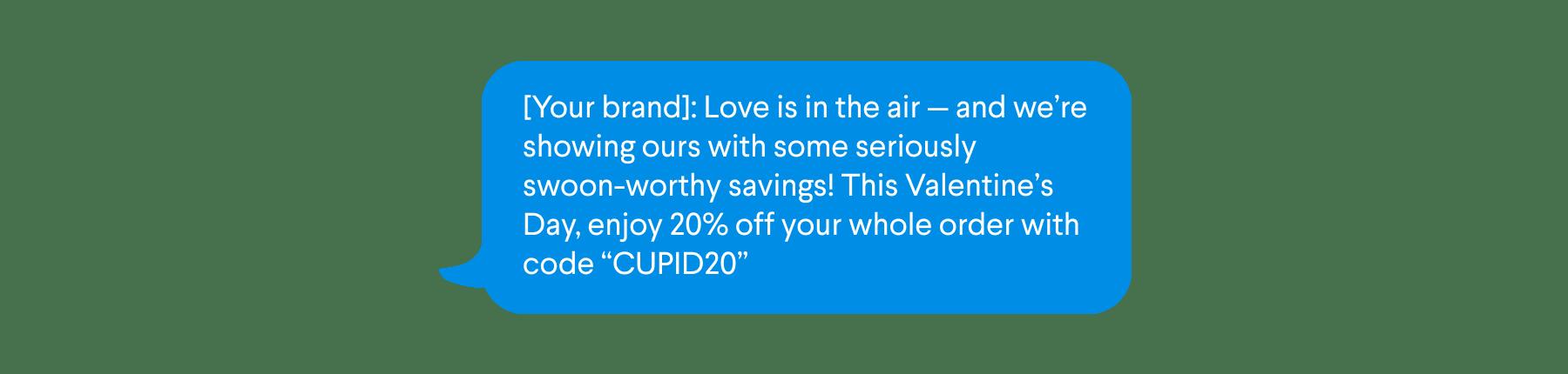Valentine's Day SMS Promo Campaign
