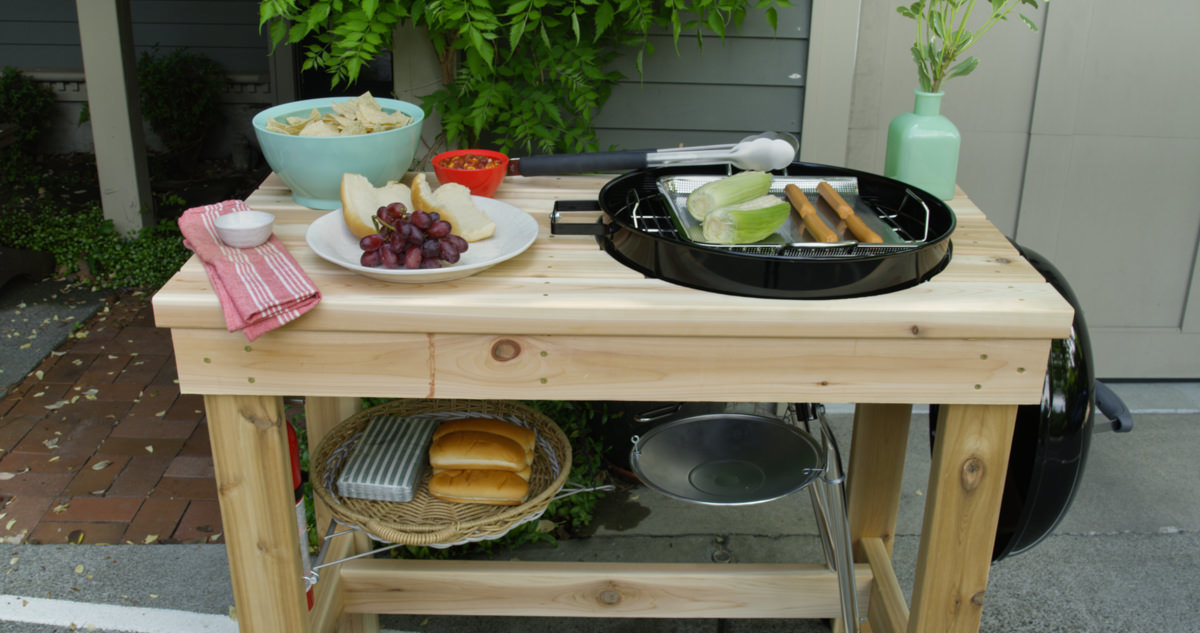 how to make a diy grill station home