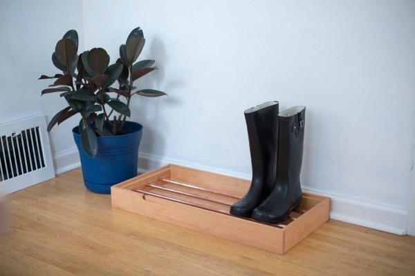 Make Copper Pipe Boot Tray