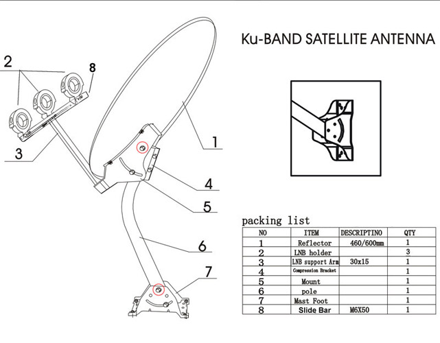 Direct Tv Swim Wiring Diagram 24 Quot Satellite Tv Antenna Anik F3 Dish Network 118 118 7 Ebay