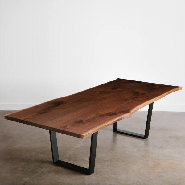 Walnut Dining Table - Elko Hardwoods Modern Live Edge