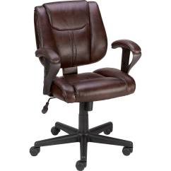 Staples Chairs Office Heywood Wakefield Dining Telford Ii Luxura Managers Chair Brown Ebay