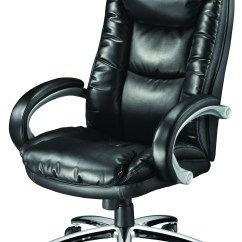Black Bonded Leather Chair Double Chaise Lounge Staples Westerly Managers Ebay