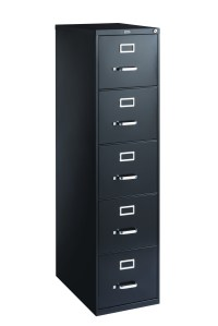 Staples 5-Drawer Letter Size Vertical File Cabinet, Black ...
