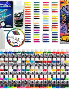 Details about createx deluxe all colors set oz airbrush hobby opaque transparent paint also rh ebay