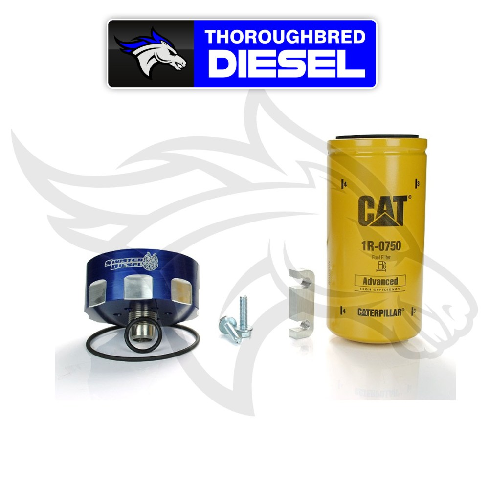 medium resolution of details about sinister diesel cat fuel filter adapter kit for 6 6l duramax sd cat dmax