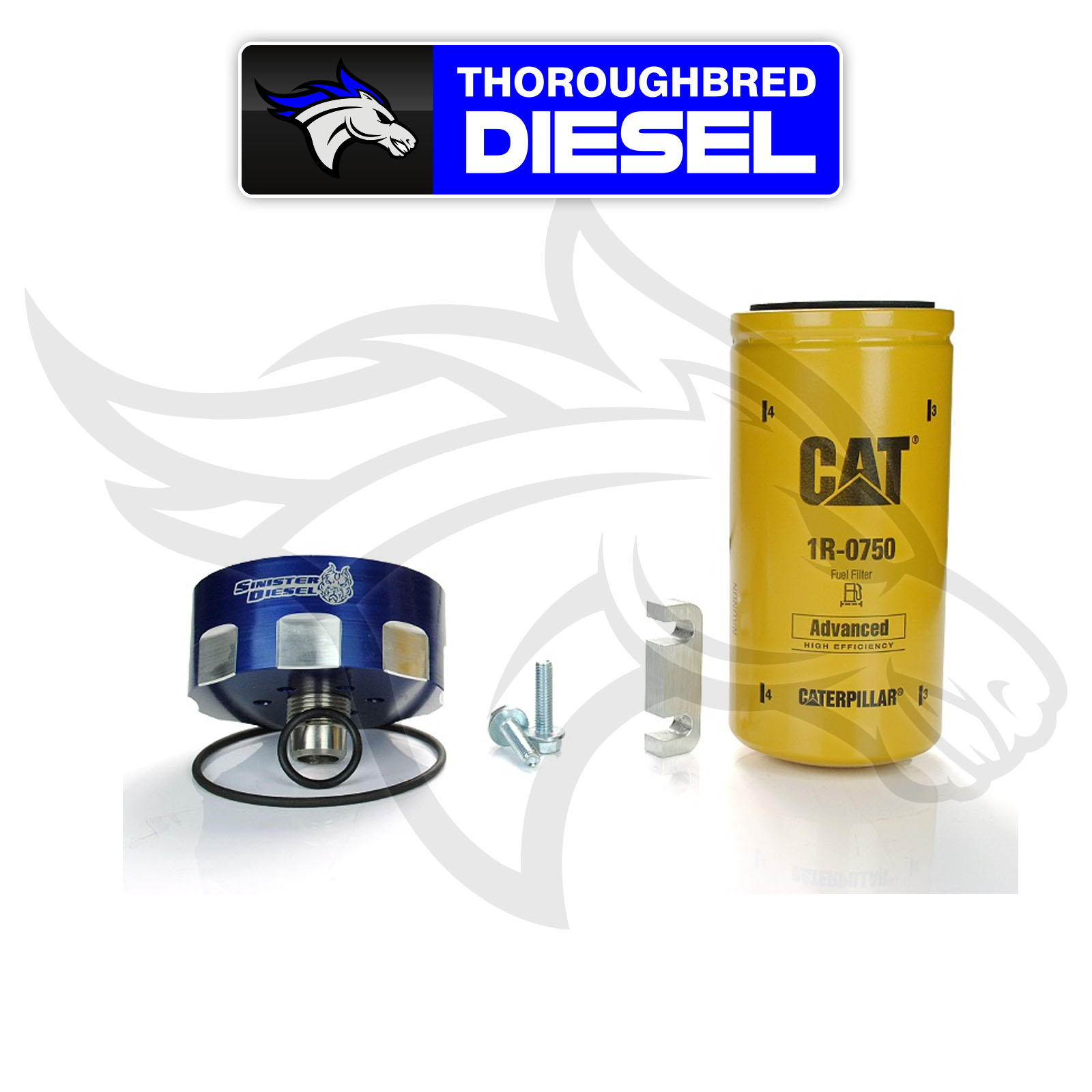 hight resolution of details about sinister diesel cat fuel filter adapter kit for 6 6l duramax sd cat dmax
