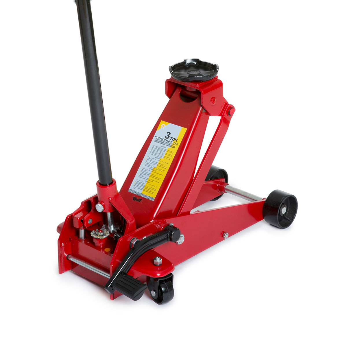 Wolf 3 Tonne Trolley Floor Hydraulic Jack Heavy Duty 42kg Quick Lift Foot Lever 5060433390654  eBay