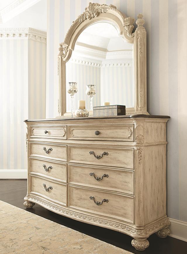 8 Drawer Dresser & Landscape Mirror by American Drew