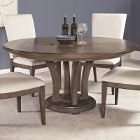 Contemporary 62-Inch Round Dining Table with Trestle Base ...