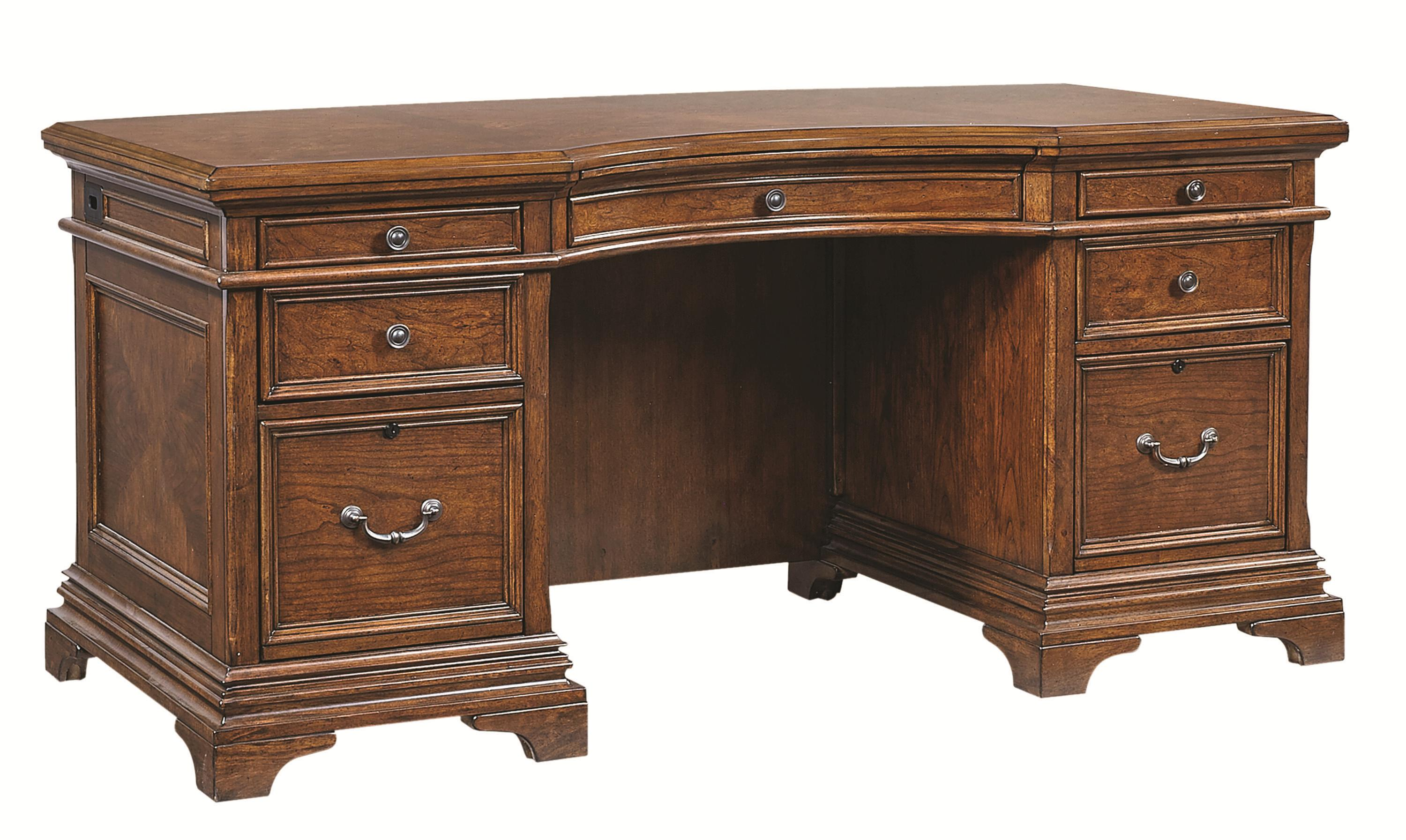 72Inch Curved Top Executive Desk with 4 Utility Drawers